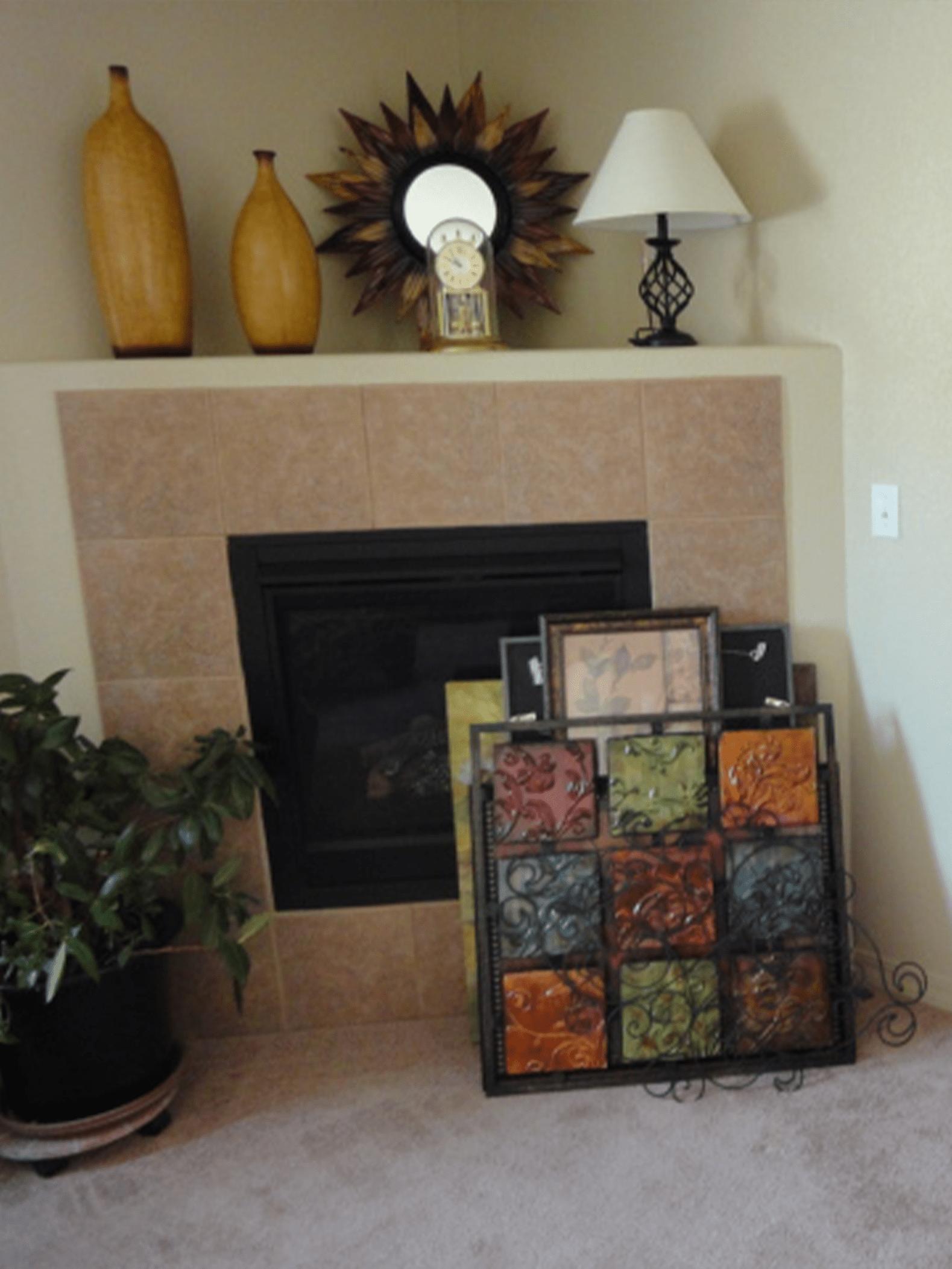 Interior Design Fireplace Before