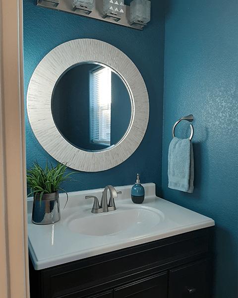 half bath interior design after