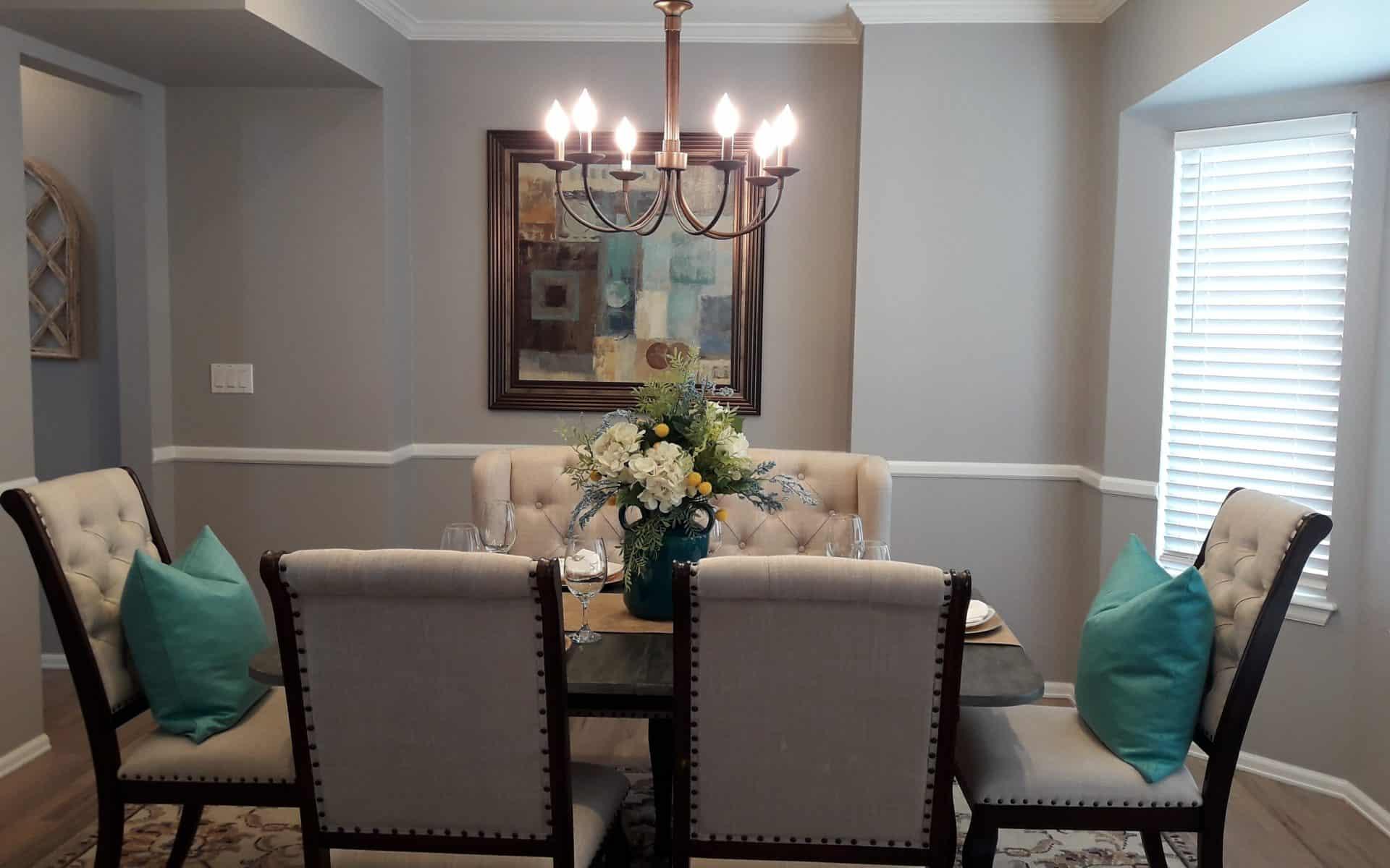 Dining room interior design after