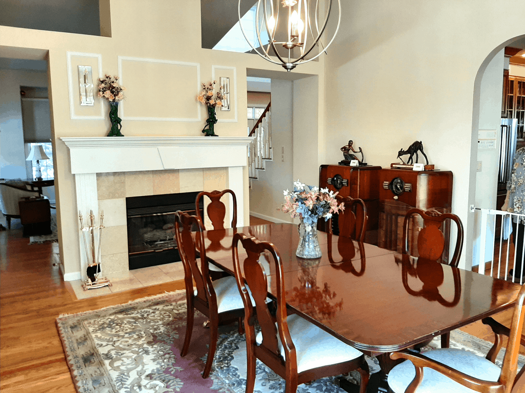 before dining room staging